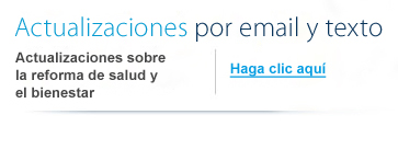 Reciba actualizaciones de Capital BlueCross por email y mensaje de texto